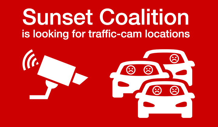Sunset Traffic Jam Cam is looking for a few good camera locations (click here).