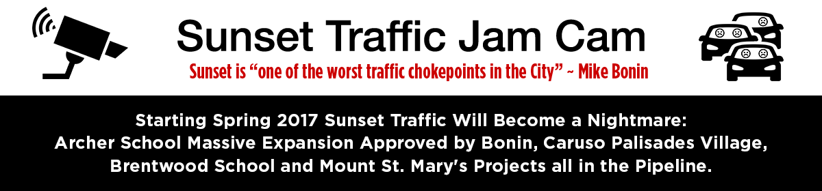 Sunset Boulevard Traffic Jam Cam
